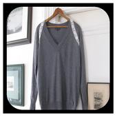 diy v neck sweater icon