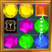 Gems fantasy three in a row icon