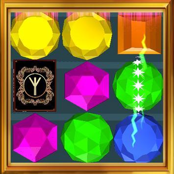 Gems fantasy three in a row apk screenshot