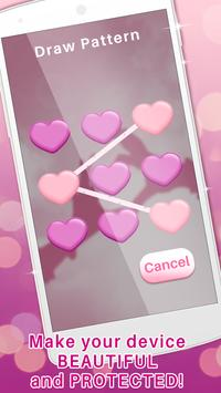 Girly Pattern Lock Screen App screenshot 2