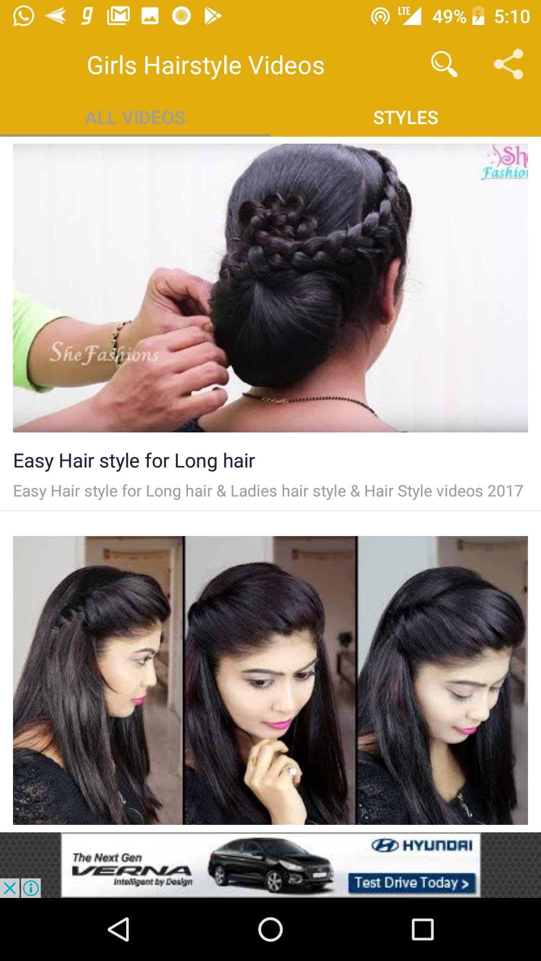 girls hairstyle videos for android - apk download