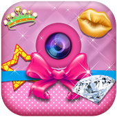Glam Photo Stickers for Girls icon