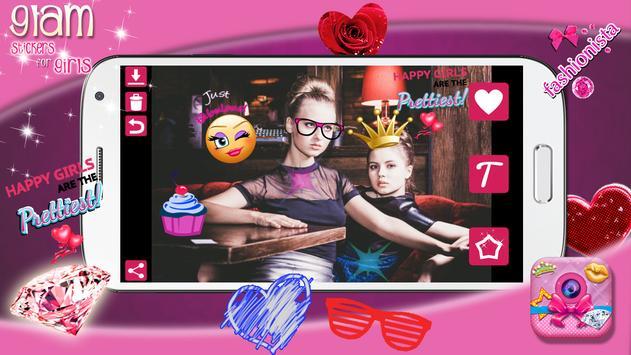 Glam Photo Stickers for Girls apk screenshot
