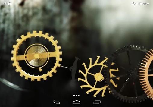 Clock Mechanism Structure LWP apk screenshot