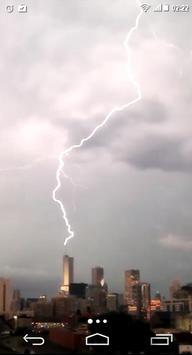 Lightning Storm City 4K LWP poster
