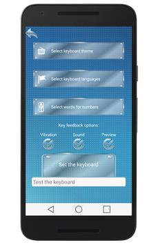Glass Keyboard Skins apk screenshot