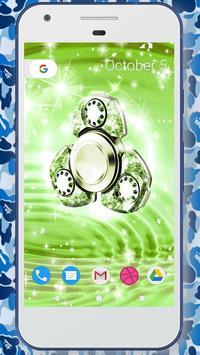 Glitter fidget spinner wallpapers poster