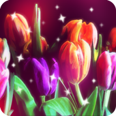glitter flower live wallpaper icon