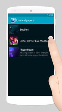 glitter flower live wallpaper screenshot 1