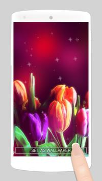 glitter flower live wallpaper screenshot 2