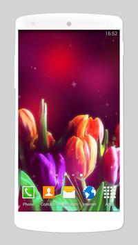 glitter flower live wallpaper screenshot 3