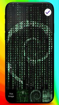 Hacker Code Anonymous Style Art HD Phone Lock screenshot 2