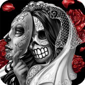 Skull Mexican Live Wallpaper icon