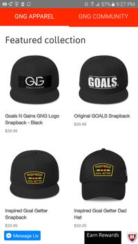 GoalsNGains.com Shop & Social screenshot 2