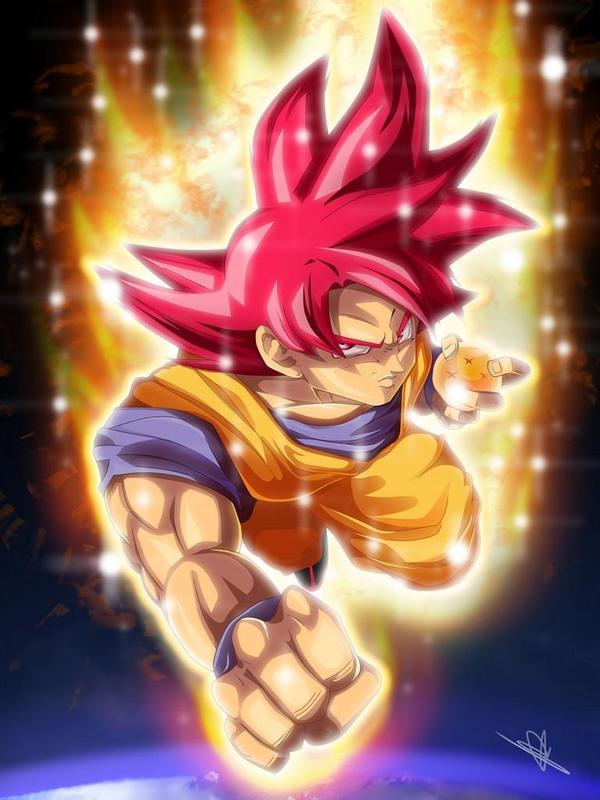 Goku SSG Wallpaper HD 4K