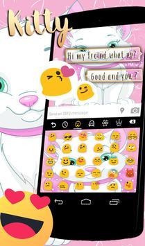 Lovely Cute Pink Cat keyboard Theme apk screenshot
