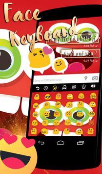 Funny Face Go Keyboard theme apk screenshot
