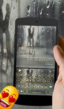 Raindrops Keyboard Theme poster
