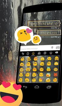 Raindrops Keyboard Theme apk screenshot