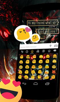 Blood Wild Wolf Keyboard Theme apk screenshot