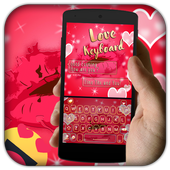 Sweet Neon love Red Kiss Keyboard theme icon