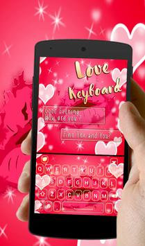 Sweet Neon love Red Kiss Keyboard theme apk screenshot