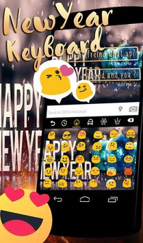 Happy New Year 2018 GO Keyboard screenshot 4
