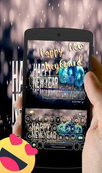 Happy New Year 2018 GO Keyboard screenshot 9