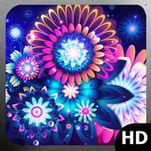 Glowing Flowers Wallpaper icon