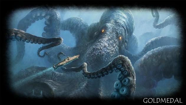 Kraken Monster Wallpaper poster