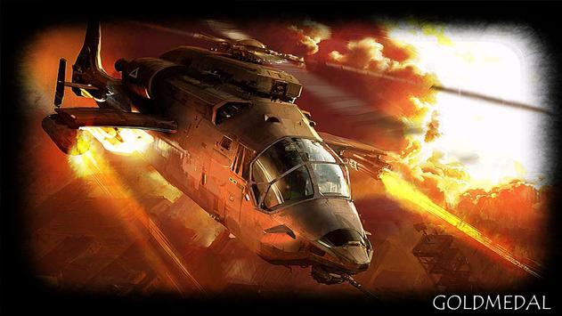 War Helicopter Wallpaper poster