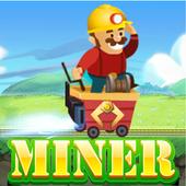 Golden miner treasure icon