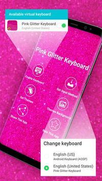 Pink Glitter Keyboard poster