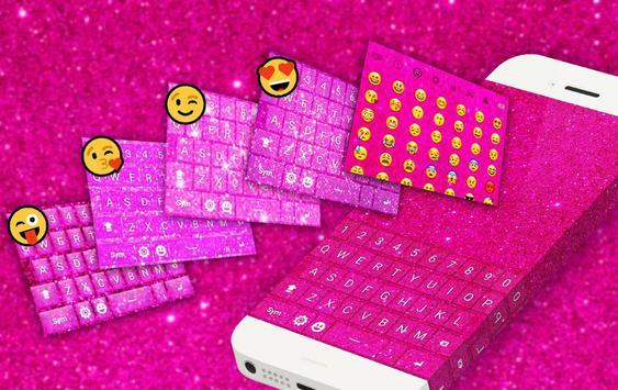 Pink Glitter Keyboard screenshot 1