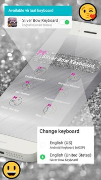 Silver Bow Keyboard poster