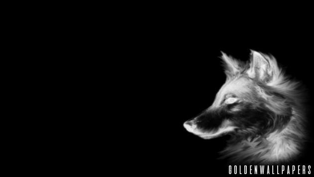 Black Wolf Wallpaper screenshot 2