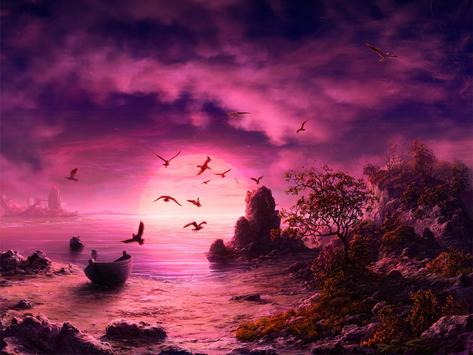 Fantasy Landscape Wallpaper poster