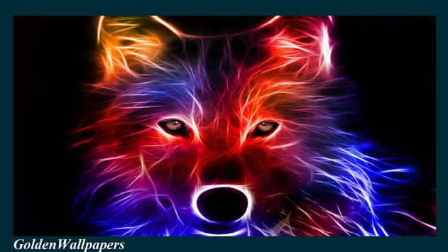 Fire Wolf Wallpaper Poster Apk Screenshot