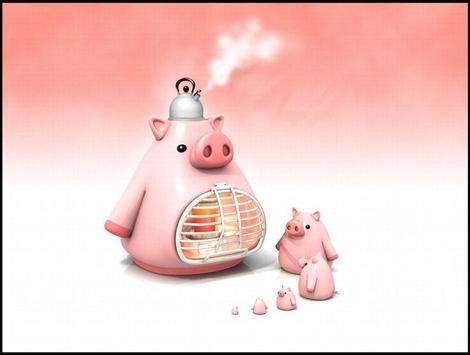 Little Pig Live Wallpaper apk screenshot