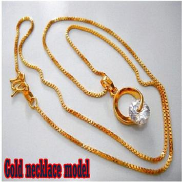 Gold necklace model poster