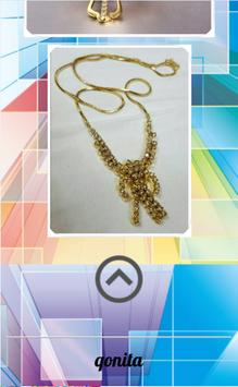 Gold necklace model screenshot 2