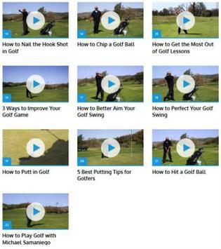 Golf Lessons apk screenshot