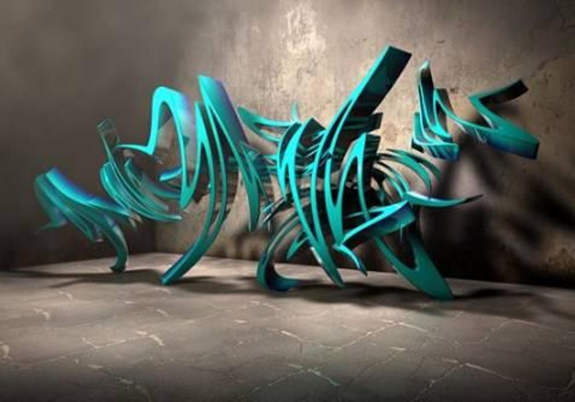 3d graffiti art screenshot 4