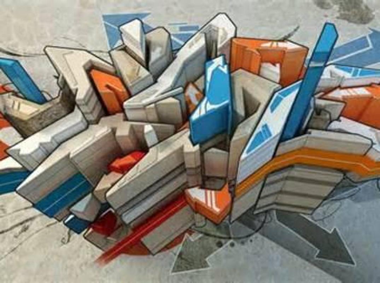 3d graffiti art screenshot 8