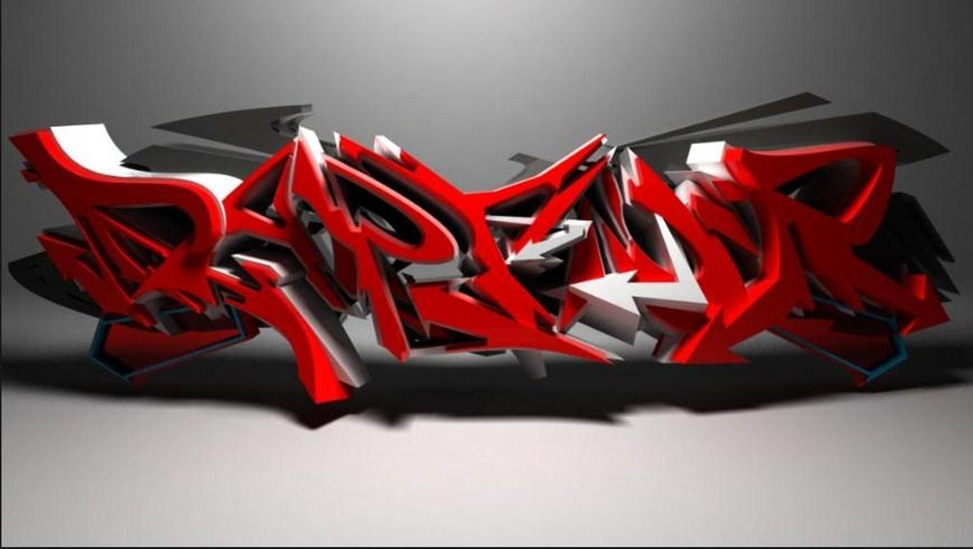 Graffiti design 3d screenshot 6
