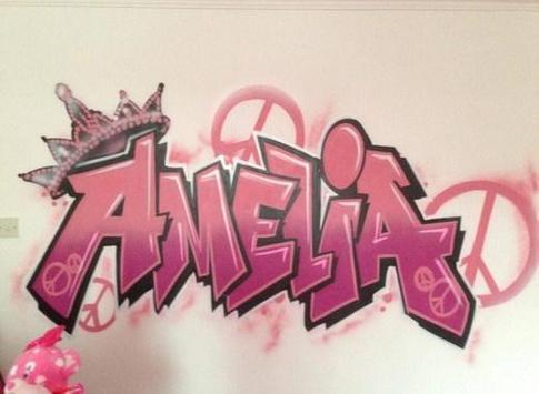 Graffiti Name Design poster