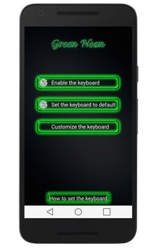Green Neon Keyboard apk screenshot