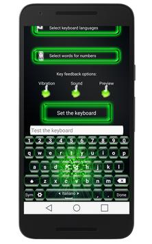Green Neon Keyboard poster