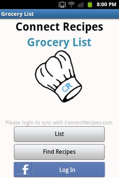 Grocery List poster