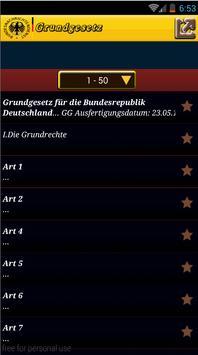 GRUNDGESETZ Der Deutschland GG apk screenshot